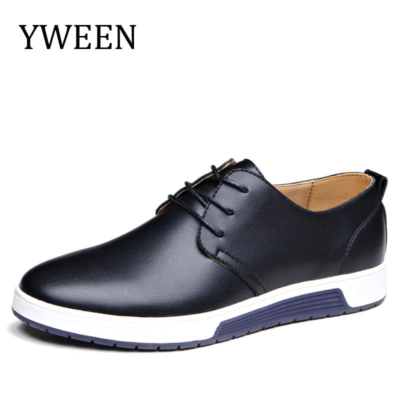 YWEEN 2018 Casual Shoes Men's Luxury Leather Shoes Man Breathing Holes Oxford Flats Big Size Leisure Shoes