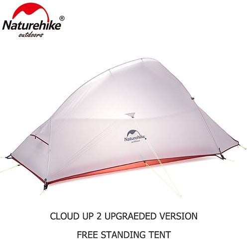 Naturehike Outdoor 2 Person Camping Tent 20D Nylon Silicone CloudUp 2 Update Ultralight Tent With Mat For Couple Hiking Trip