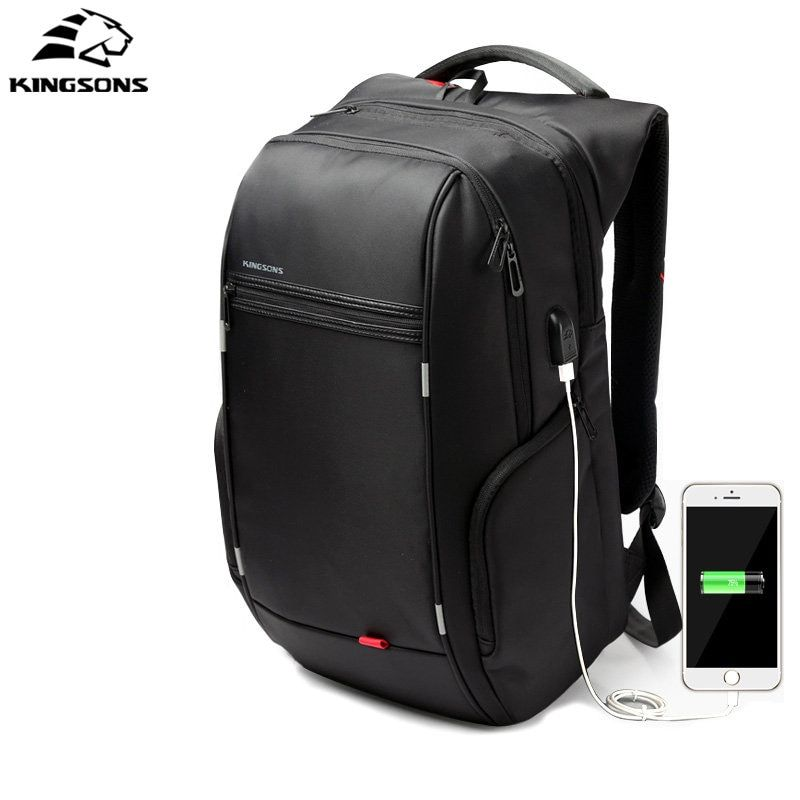 Kingsons Anti-thief Waterproof USB bagpack 13/15/17 inches Laptop Backpack for Men school backpack Bag for Male Travel Mochila