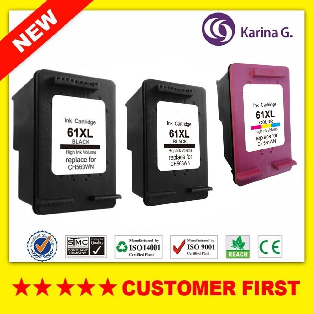 3X 2B+C ink cartridges for HP 61 61XL hp61 Officejet 2620 2621 2622 2624 4630 4631 4632 4634 4635 4636 4639 ENVY 5532 5534 5535