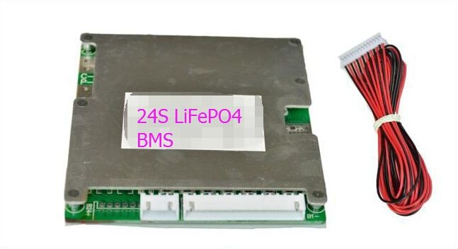 24S LiFePO4 Batteries Protection Board BMS System 72V(87.6V) 40A Continuous Discharge Current 1500W