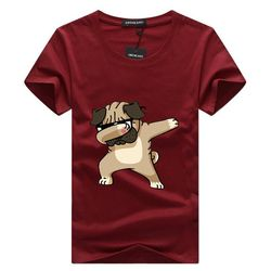 SWENEARO Men's t shirt men Brand T Shirt Dogs Animal cartoon Printed T Shirts Summer Casual High Quality Hipster tee shirts Men
