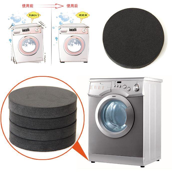 New 6x1cm 4PCS/Lot Round Black Anti-shock Pads for Washing Machine Mute Cotton Slip Buffering Heat Insulation Moistureproof