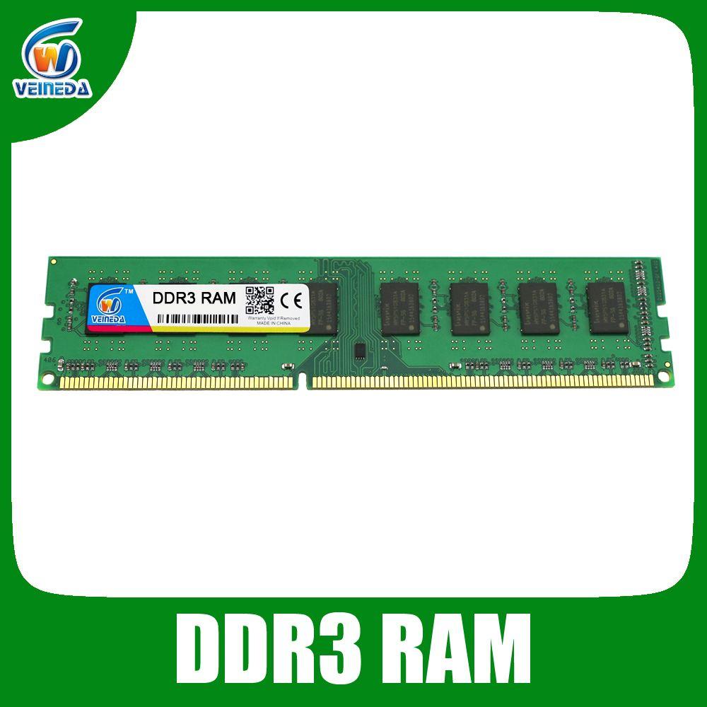 VEINEDA DDR3 4 gb 8 gb Memoria Ram ddr 3 1333 1600 Pour L'ensemble ou Pour certains AMD Bureau PC3-12800 compatible 2 gb Nouveau
