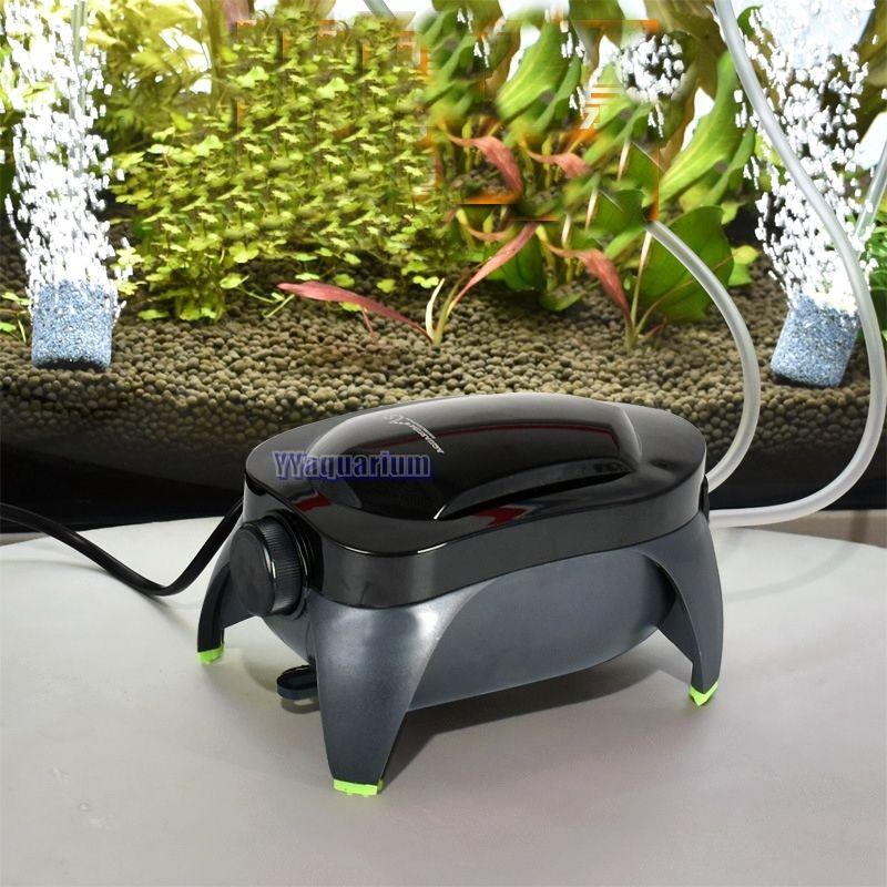НОВЫЙ Fish Tank super quiet воздушный насос аквариум Мощный воздушный O2 compressor 220 В w/европейская вилка расход регулируемый двойной выход