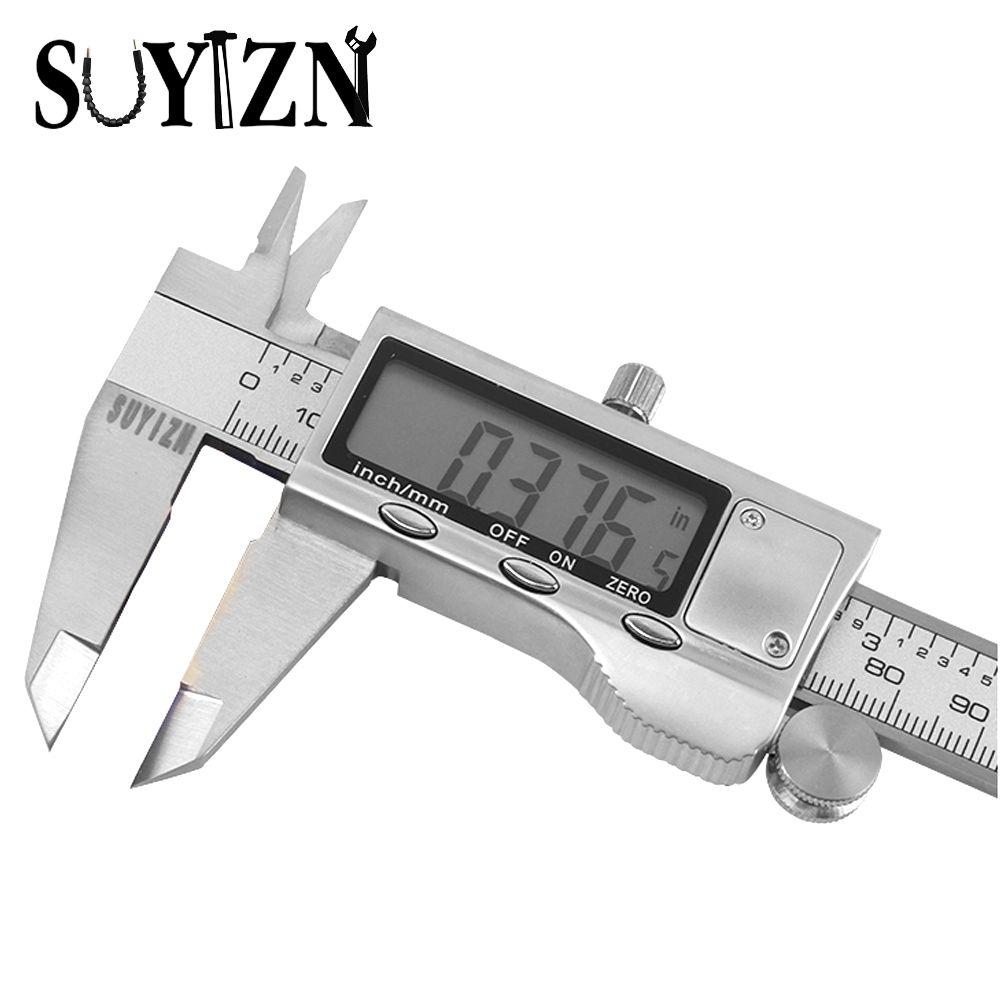 Diagnostic-tool Digital Calipers 150mm Steel Inch Electronic LCD Vernier Caliper 0.01mm Measuring & Gauging Tools HW106-1