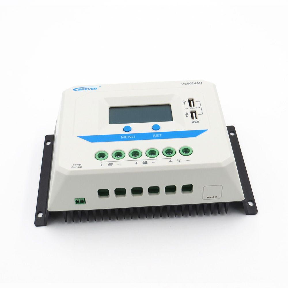 60A VS6024AU 12V 24V EPSolar PWM Viewstar Solar Charge Controller Regulators LCD with USB