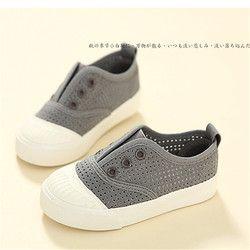 Enfants de toile chaussures chaussures de printemps et d'été nouveau style respirant femelle enfants.