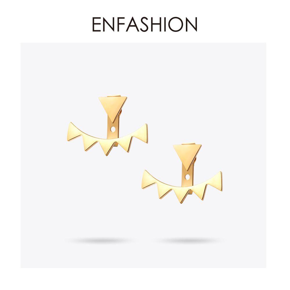 Boucles d'oreilles Triangle géométrique Enfashion boucles d'oreilles en acier inoxydable couleur or étoile boucle d'oreille pour femmes bijoux de mode en gros