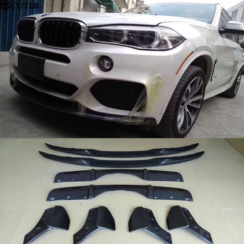 F15 X5 Carbon Fiber front lip rear diffuser Rear Bumper Aprons Side Splitter for BMW F15 X5 M PERFORMANCE Bumper 2014-2015