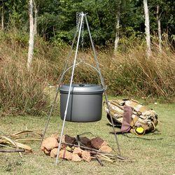 Neue Outdoor Picknick Kochen Stativ Tragbare Hängen Topf Camping Stativ Lagerfeuer Grill Stehen mit Lagerung Tasche