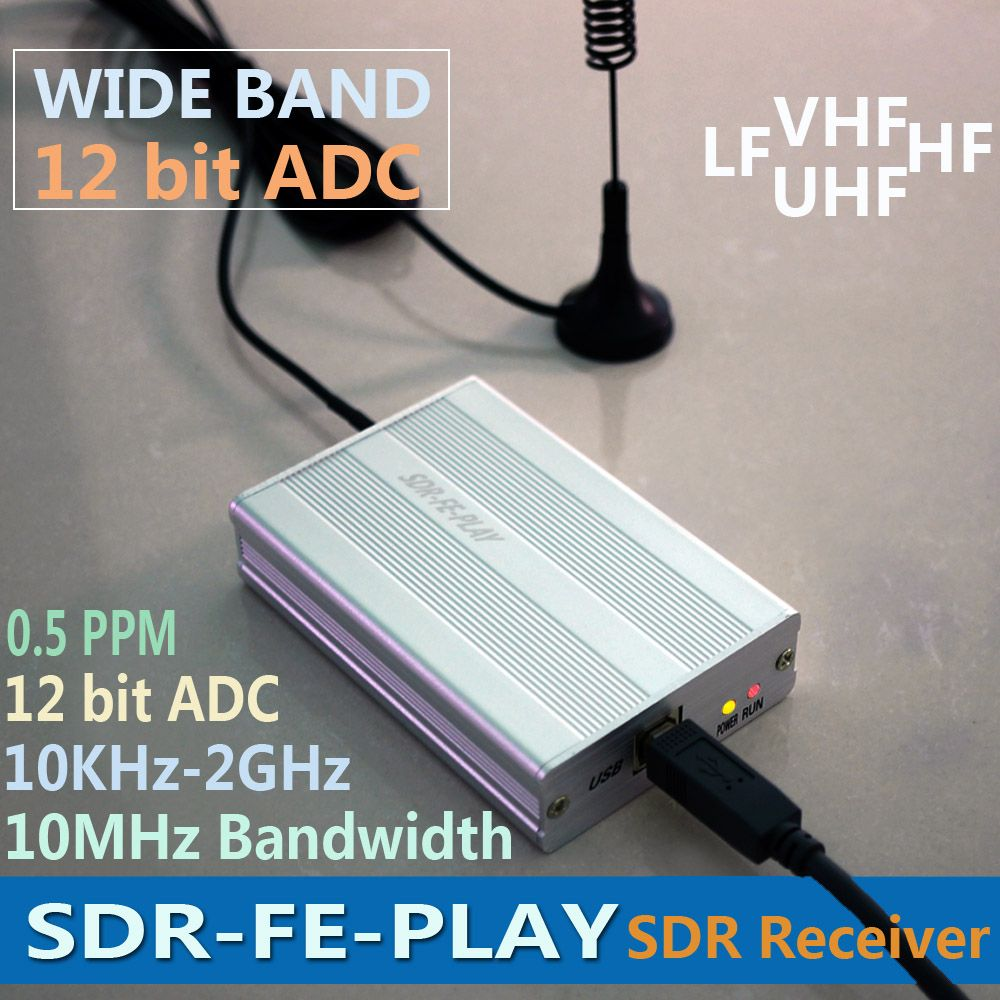 Wideband Full Featured 12bit SDR Receiver SDRPLAY RSP1 RSP2 RTL-SDR HackRF Upgrade AM FM HF SSB CW receiver Full band HAM Radio