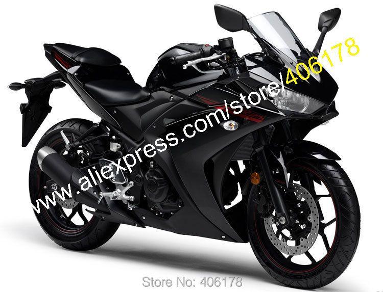 Heiße Verkäufe, sportbike Körper Kit Für Yamaha R25 R 25 15 16 R3 R 3 2015 2016 Schwarz Bodyworks Motorrad Verkleidung (spritzguss)
