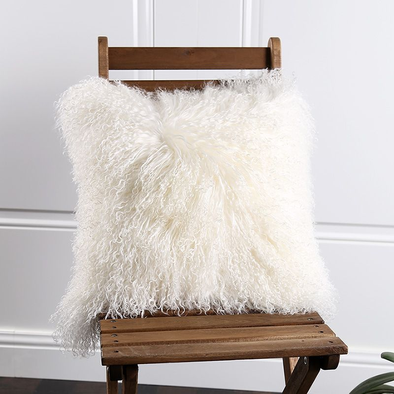 Peau d'agneau du tibet fourrure siège pad 45*45 cm, Ningxia fourrure de mouton siège coussin tapis pour salon, bouclés Mongol fourrure de mouton siège tapis
