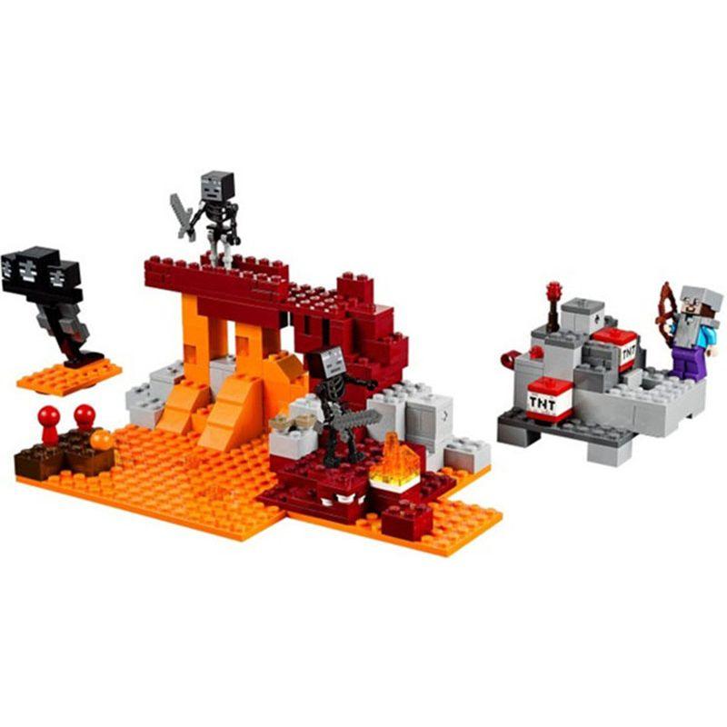 Bela 10469 324pcs Plants vs Zombies Garden Maze Struck My World The Wither Building Block Set Compatible 21126 Legoe Bricks Toys