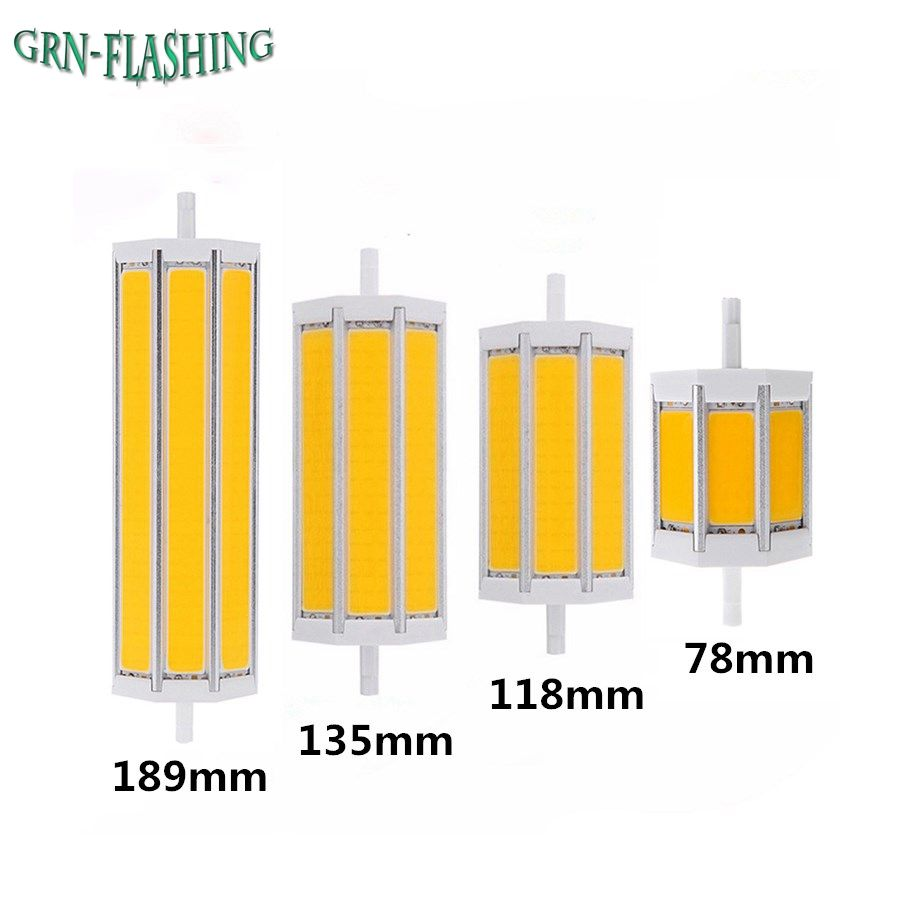 1 Pcs COB R7S led ampoule Lampe 78mm 118mm 135mm 189mm 10 W 15 W 20 W 25 W AC85-265V R7S Lampada Ampoule remplacer halogène projecteur