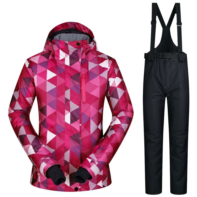 2017 New High Quality <font><b>Women</b></font> Skiing Jackets And Pants Snowboard sets Thick Warm Waterproof Windproof Winter female Ski suit