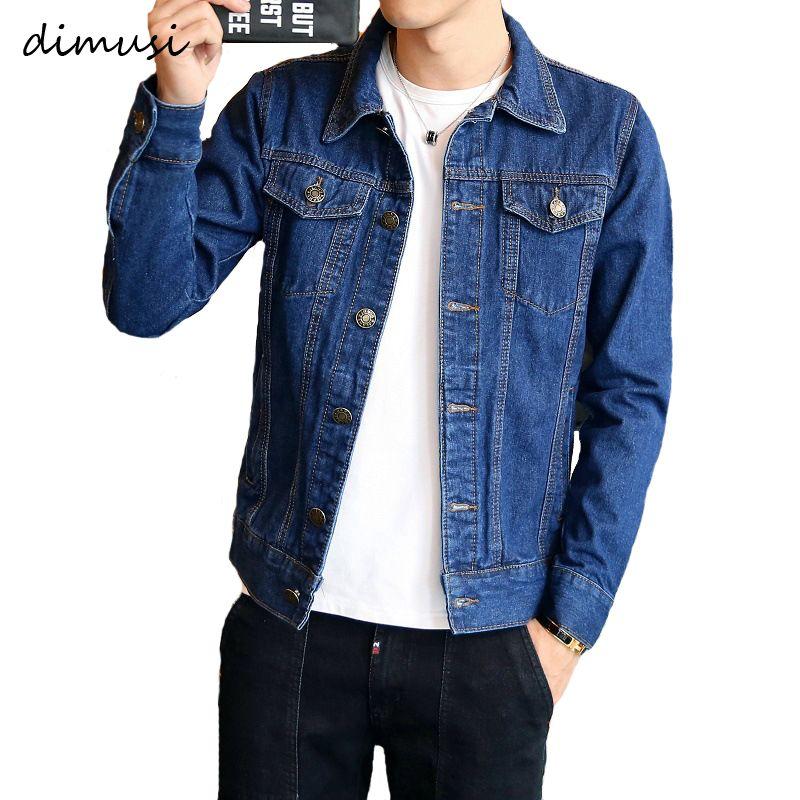 DIMUSI printemps automne hommes Denim veste hommes à la mode Bomber mince déchiré Denim veste mâle Cowboy Jeans vestes 4XL, TA341