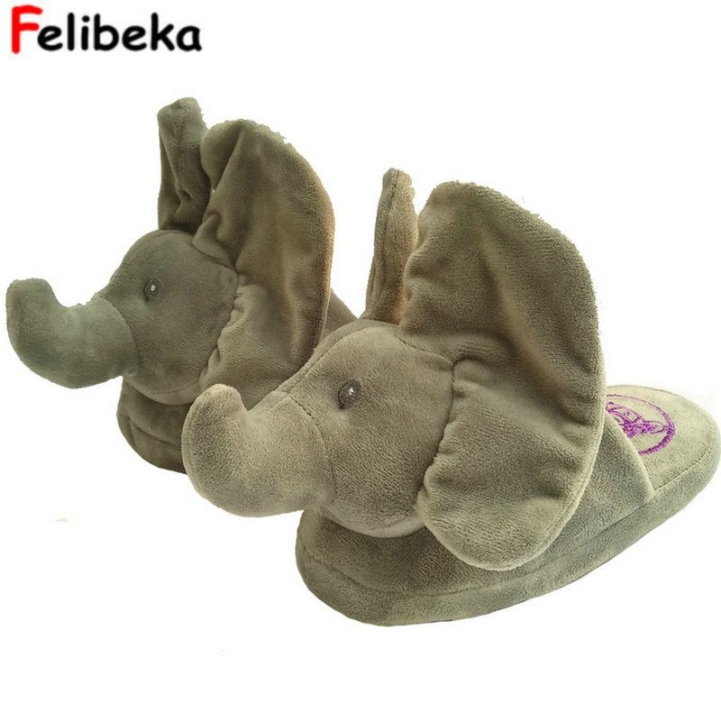 New Peek A Boo Elephant Slipper Toy & Stuffed Animals Elephant Home Slipper The Best Gift For Your Beloved Person