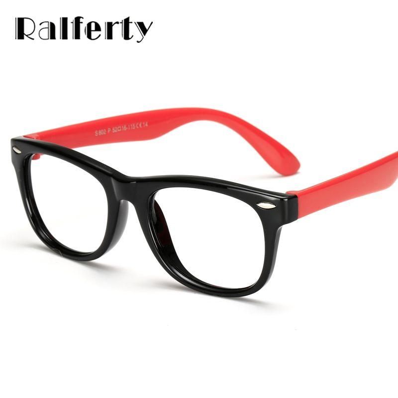 Ralferty Infant Baby Kids TR90 Eyewear Frames Child Safety Eye Glasses With Clear Lens, Soft Flexible Optic Frame For Myopia