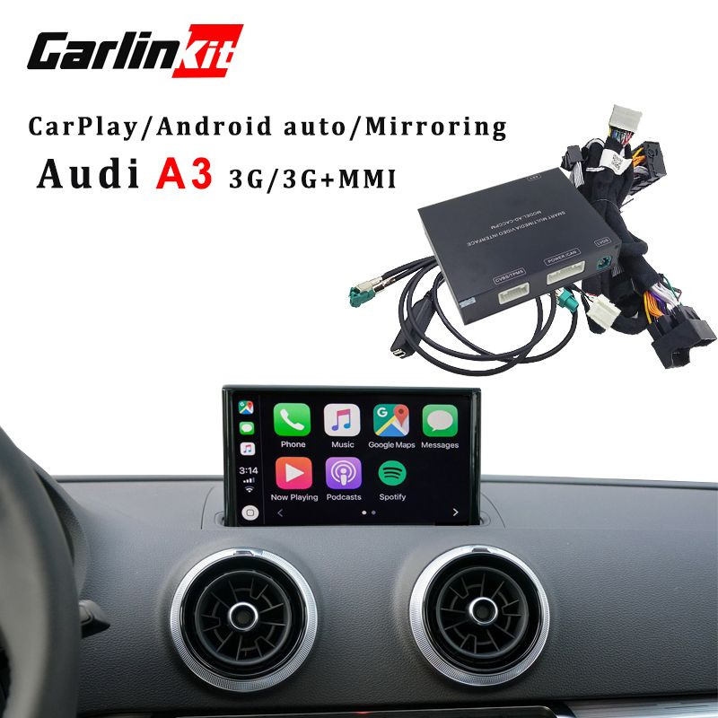 Carlinkit Apple CarPlay interface for Audi A3 MMI factory Screen upgrade with iOS12 AirPlay screen Mirroring