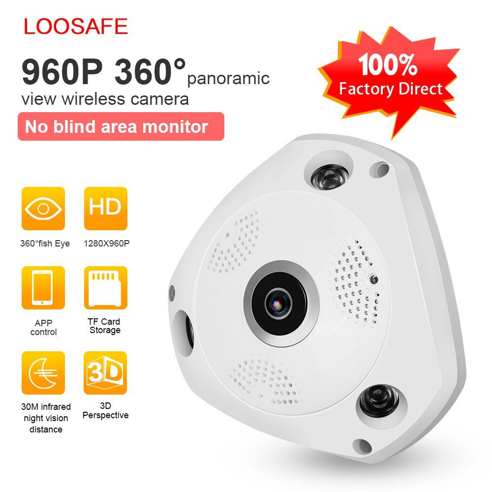 LOOSAFE 360 Grados VR Panorama Cámara CCTV HD 960 P Cámara IP Inalámbrica WIFI Seguridad Para El Hogar Sistema de Vigilancia de Vídeo Cámara Webcam