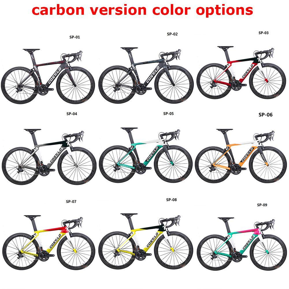 2019 Costelo Speedcoupe carbon faser rennrad rahmen komplette fahrrad mit 40mm räder gruppe billig fahrrad 9 Farbe