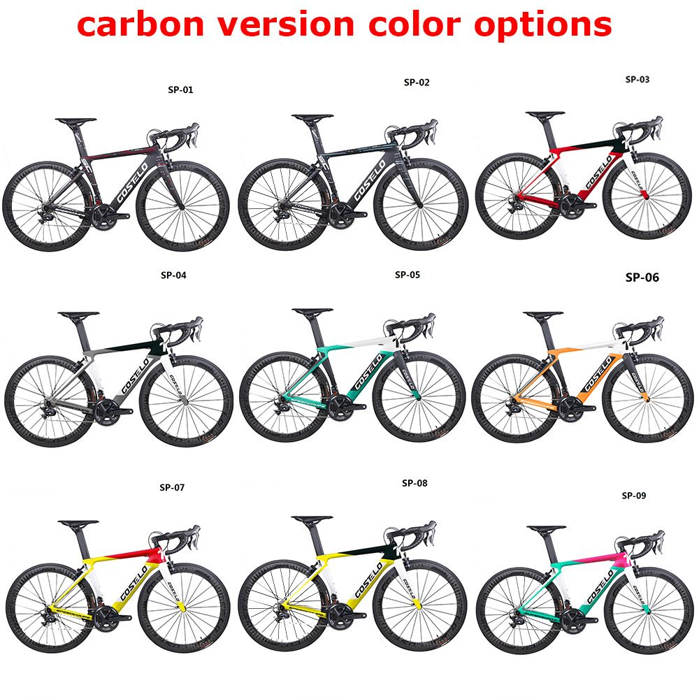 2019 Costelo Speedcoupe carbon fiber road bike frame complete bicycle with 40mm wheels group cheap bike 9 Color