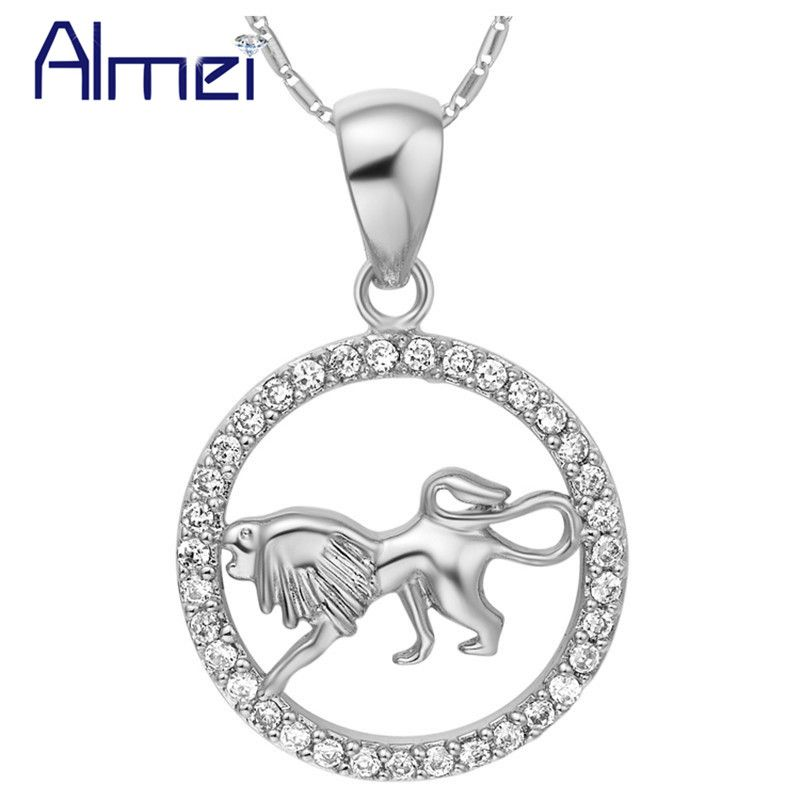 Almei Silver Color Necklace Constellation Aries Taurus Gemini Cancer Leo Virgo Libra Scorpio Pisces Choker Women Jewelry N1048