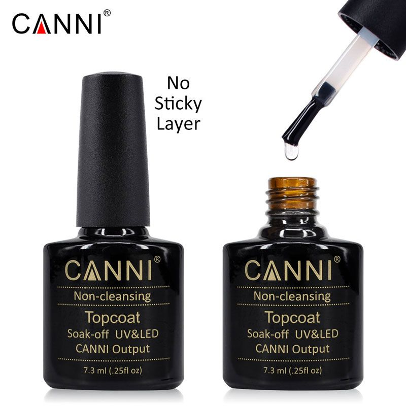 #40601 CANNI 7.3ml No Layer Stick Top Coat Shining non-cleansing Top Coat No-Wipe Top Coat Soak off Base Coat