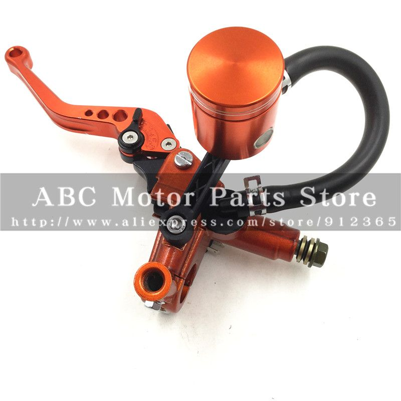 Hydraulic Clutch Lever for KTM Dirt Bike Pit Bike With Mirror Mounts Brake Lever motorcycle motocross CNC Oil Cup Orange Colour