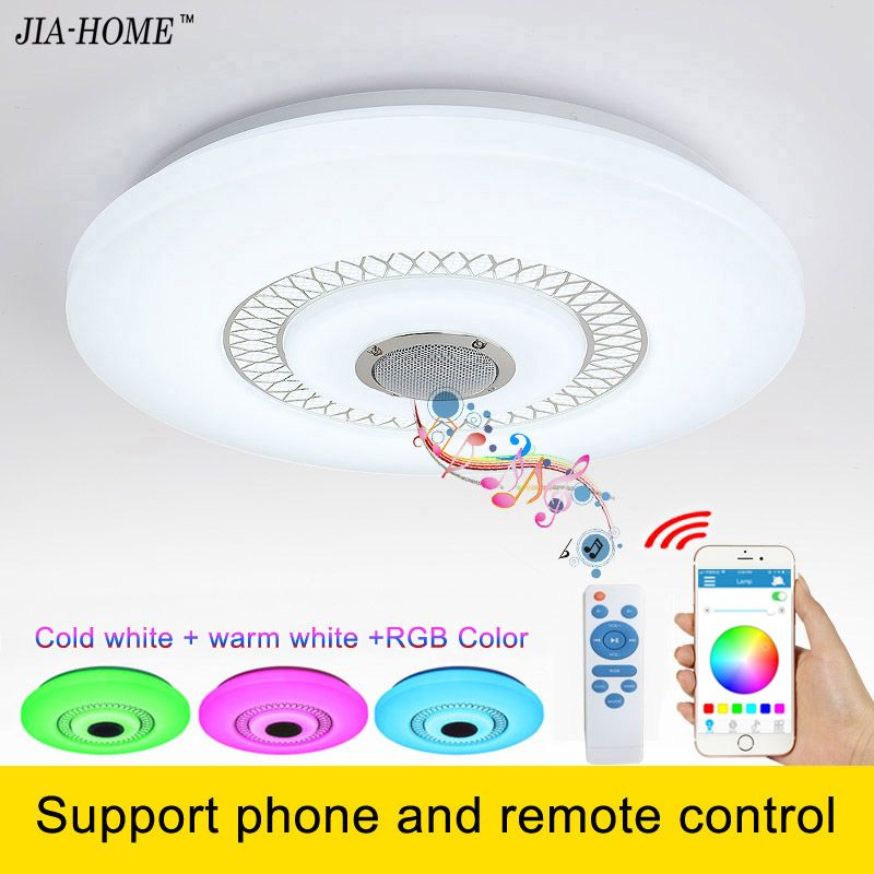 2017 modern ceiling lights for living room bedroom with music and remote or phone control dome commercial ceiling light fixtures