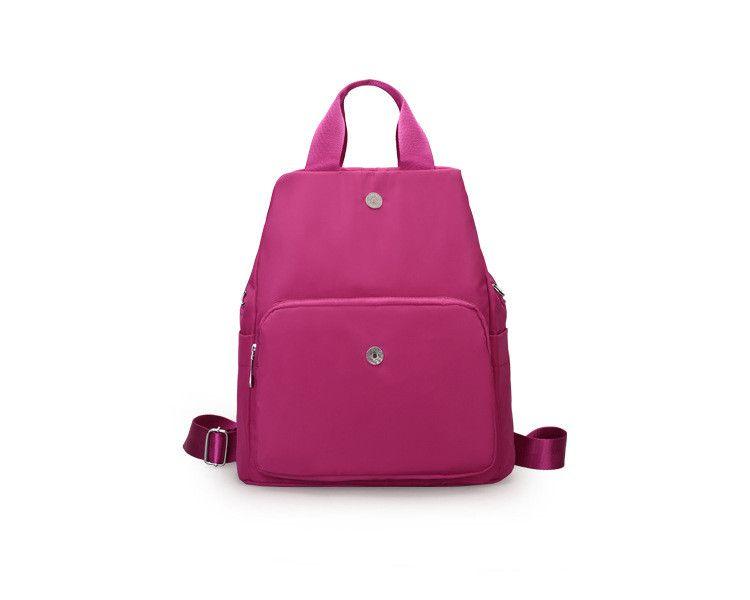 New style backpacks crossbody bag shoulder bag pink purple black solid bag for women