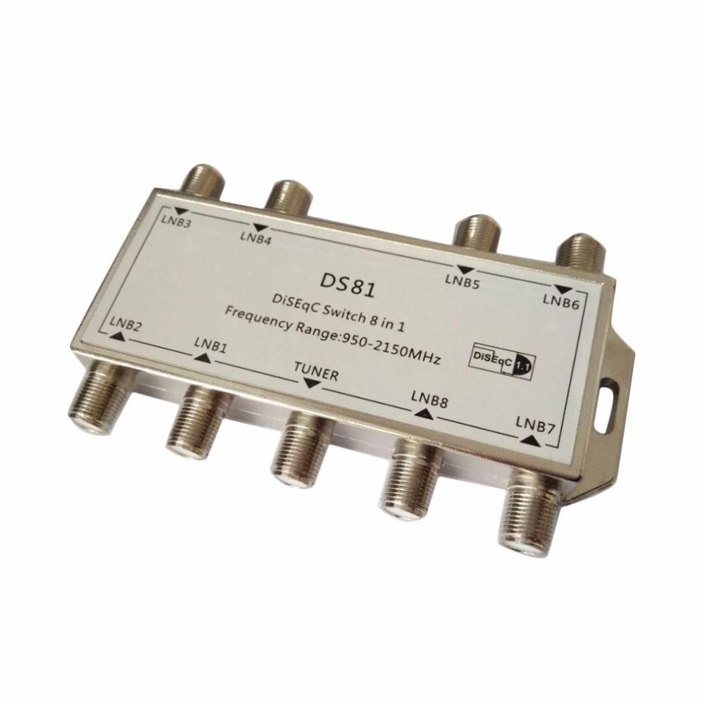 New1pcs GST-8101 8 in 1 Satellite Signal Diseqc-schalter LNB Empfänger Multischalter Freies Verschiffen freies verschiffen