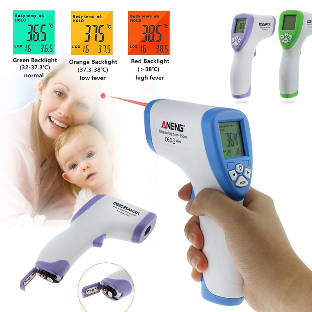 Handheld Digital Infrared Baby Thermometer Non-contact IR Infrared Thermometer Forehead Body Surface Temperature Measurement Gun