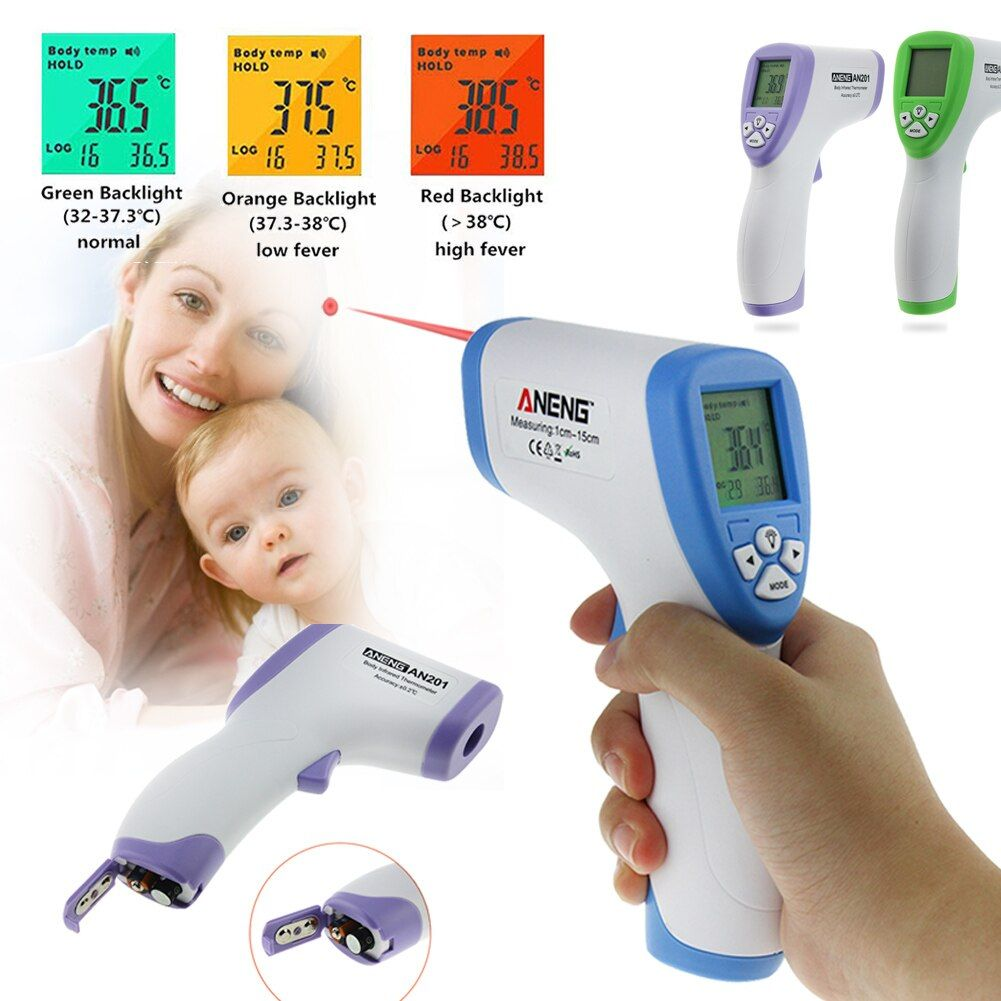 Handheld Digitale Thermometer berührungslose IR Infrarot-thermometer Stirn Körper Oberflächentemperaturmessung Messung Gun