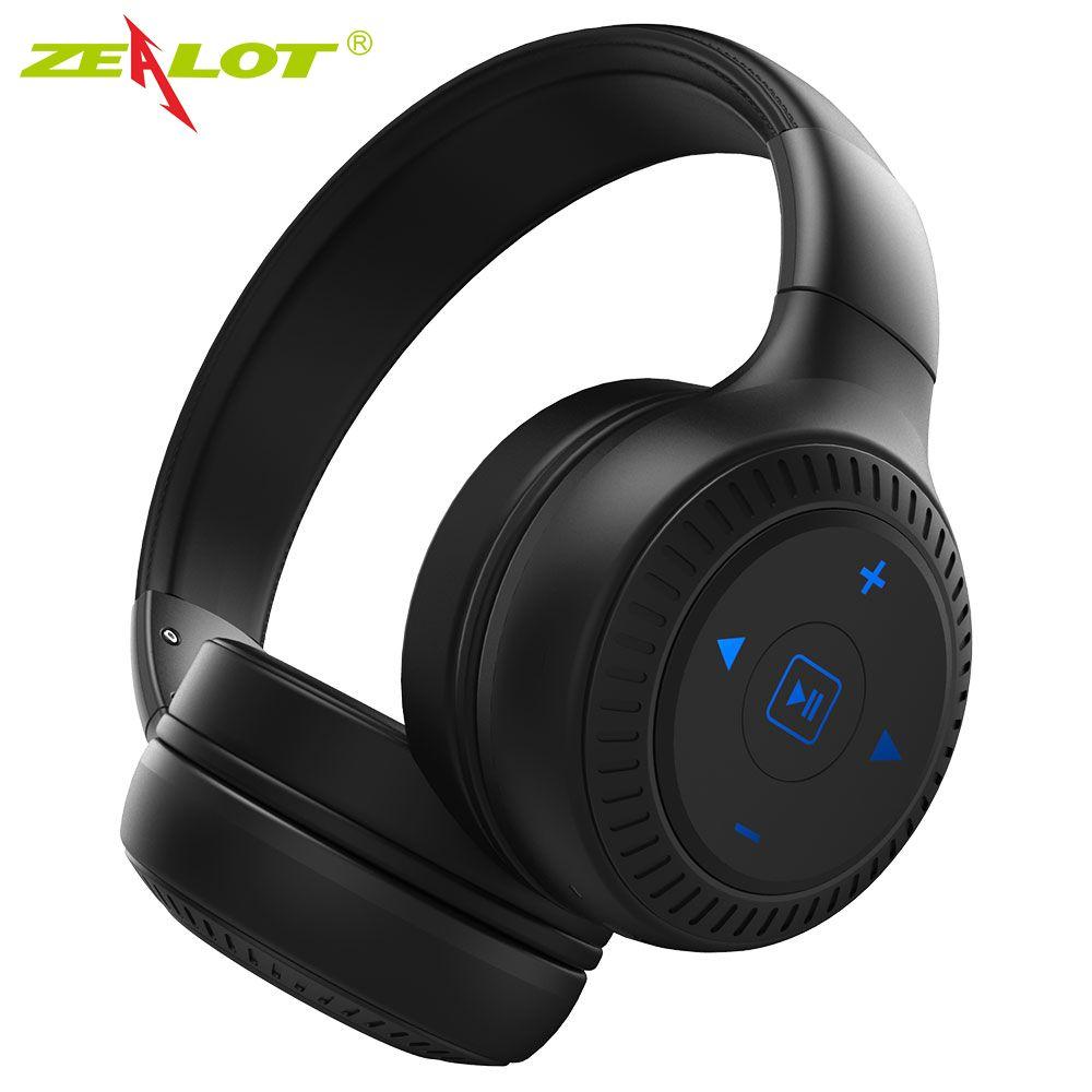 Casque Bluetooth sans fil zélot B20 avec son HD stéréo basse sur l'oreille casque avec micro écouteur pour iPhone Android
