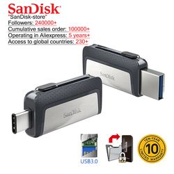 Sandisk OTG type-c and Micro USB 3.0 usb flash drive multifunctional usb stick pen drive pendrive 16gb 32gb 64gb 128gb 256gb