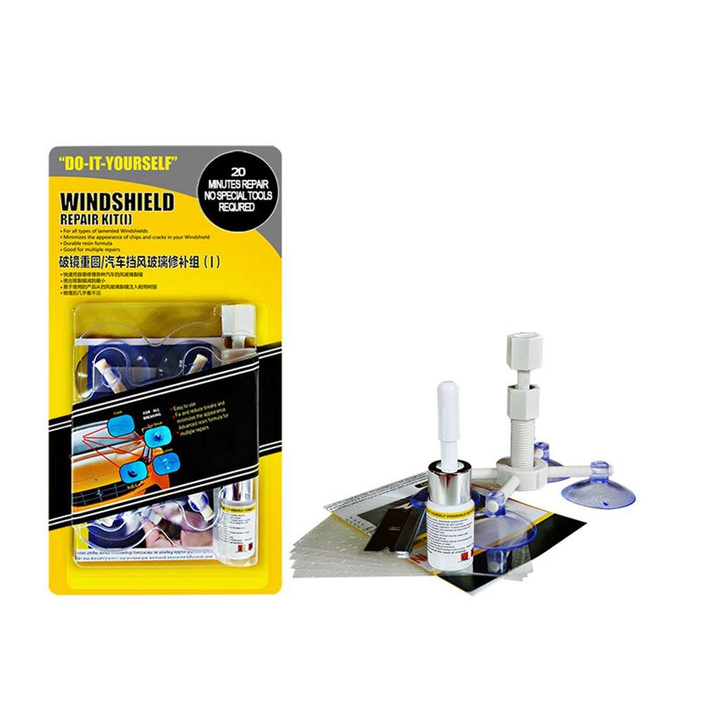 Le plus récent bricolage voiture Automobile Kit de réparation de pare-brise outils Auto verre pare-brise ensemble de réparation (donner des autocollants de protection de poignée de porte)