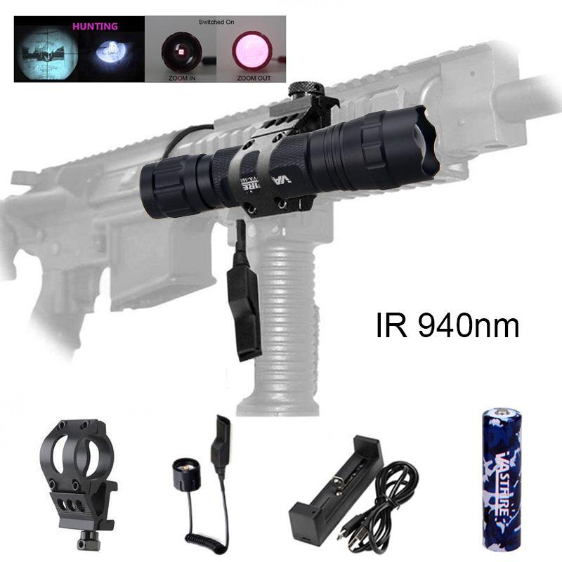 Ultra Bright New 7W IR 940nm Night Vision Infrared Zoom LED Flashlight Hunting Camping Tactical Linternas Linternas Torch Light