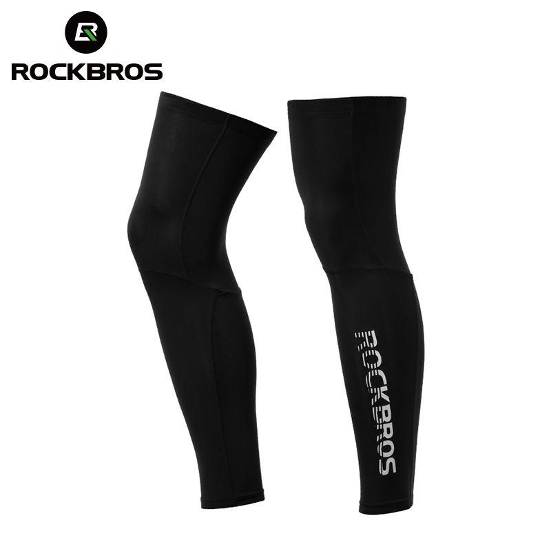 ROCKBROS Anti UV400 jambières de cyclisme Compression genouillère protecteur manches de jambe Sports de plein air sécurité football course Leggings