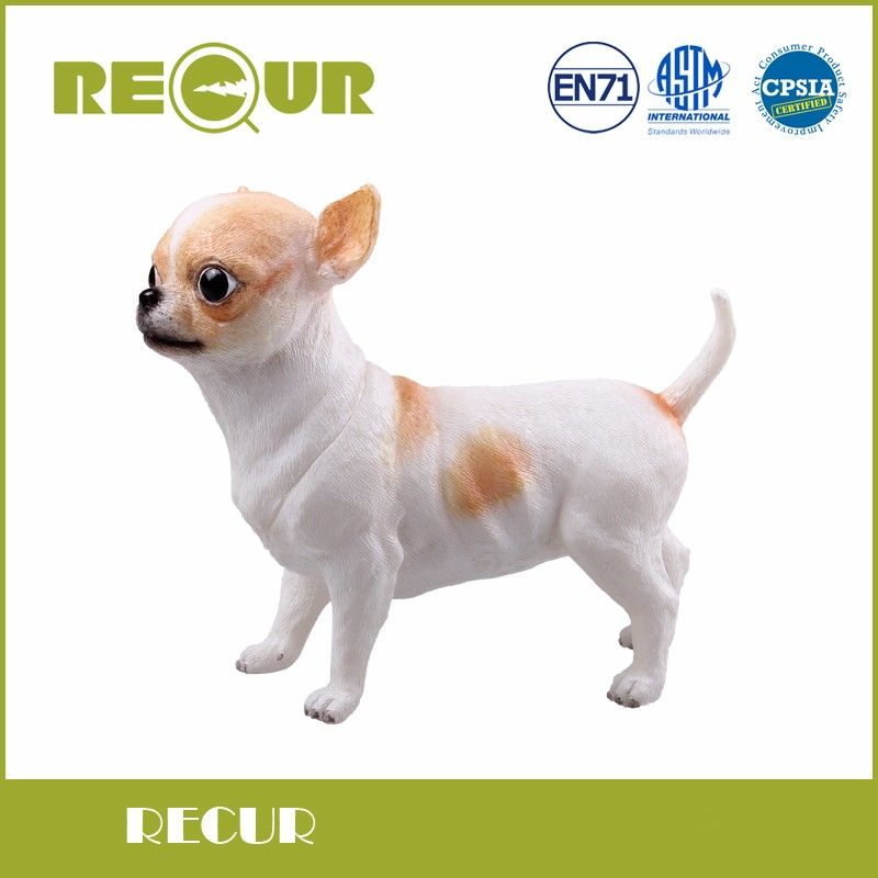 Recur Cute Kawaii Toy Chihuahua Dog Pet Delicate Model Hand Painted Soft PVC Animal Figure Toys Gift Collections