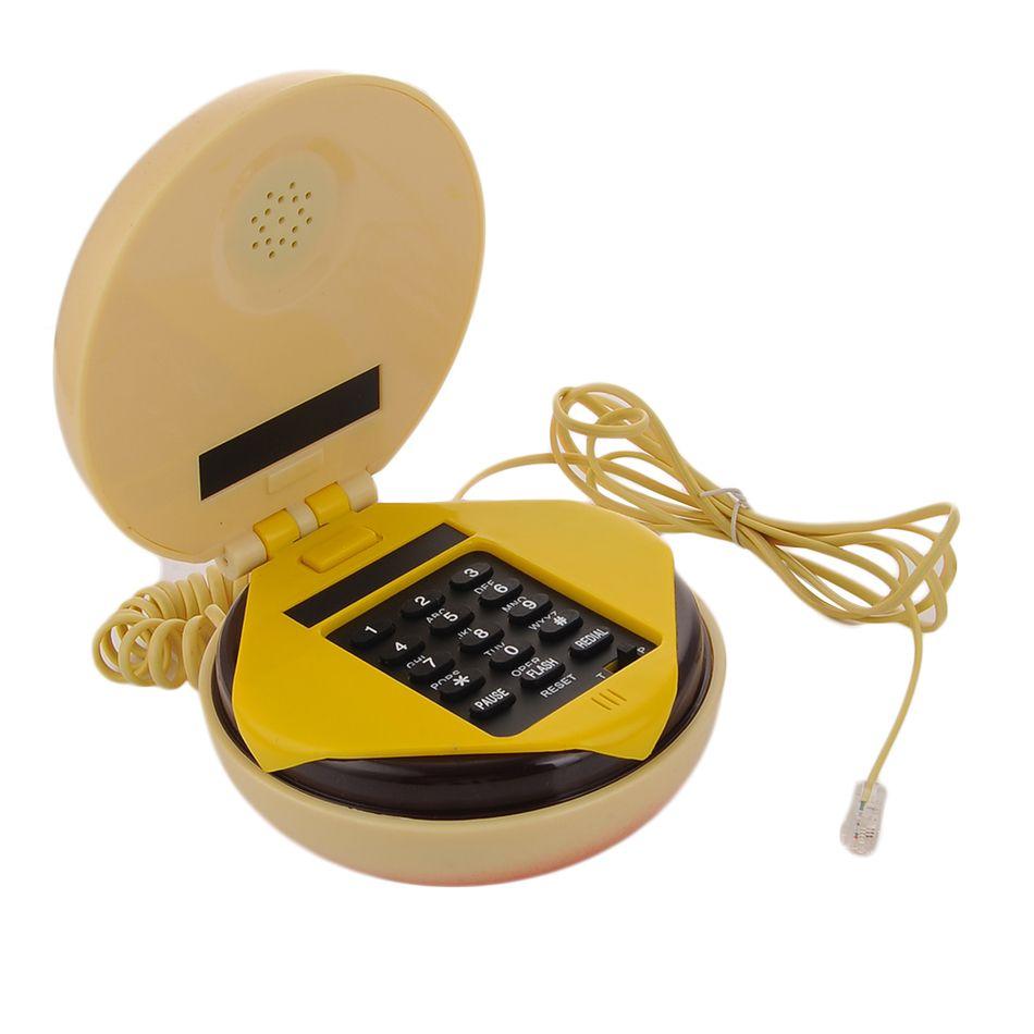 Date Hamburger Téléphone Filaire pour la maison telefon Ligne Terrestre 1 Accueil Bureau Cadeau De Mode De Téléphone Telefon Dropshipping