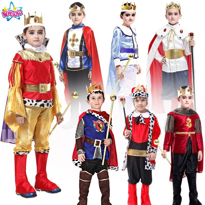 Halloween Cosplay enfants homme Prince Costume pour enfants le roi Costumes enfants jour garçons fantasmes costumes royaux européens