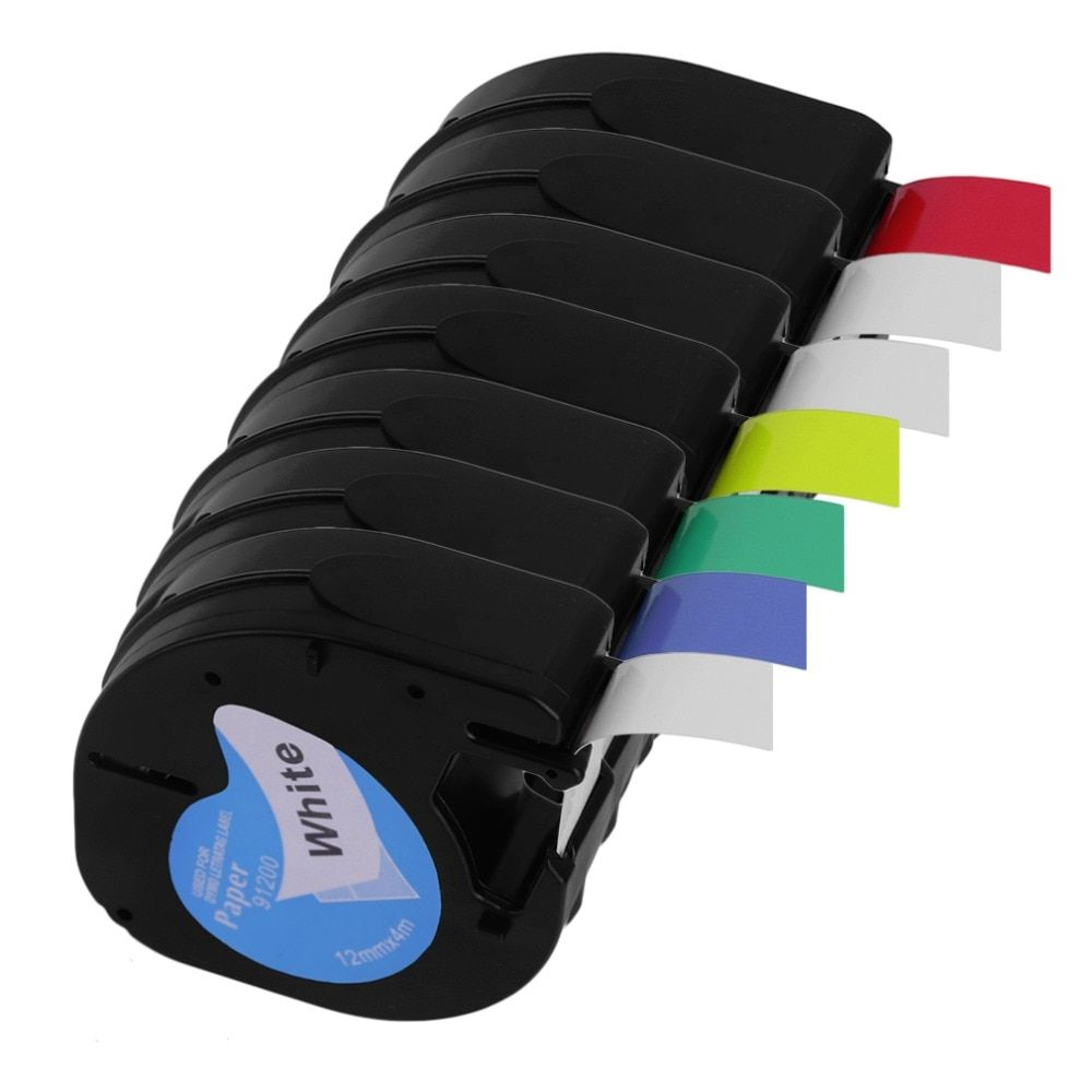 Neue 12*4 MM 12267 91201 91200 Etikettenband Große Stabilität Bequem Label Tag Band Etikettenpapier Geeignet Für Dymo LetraTag