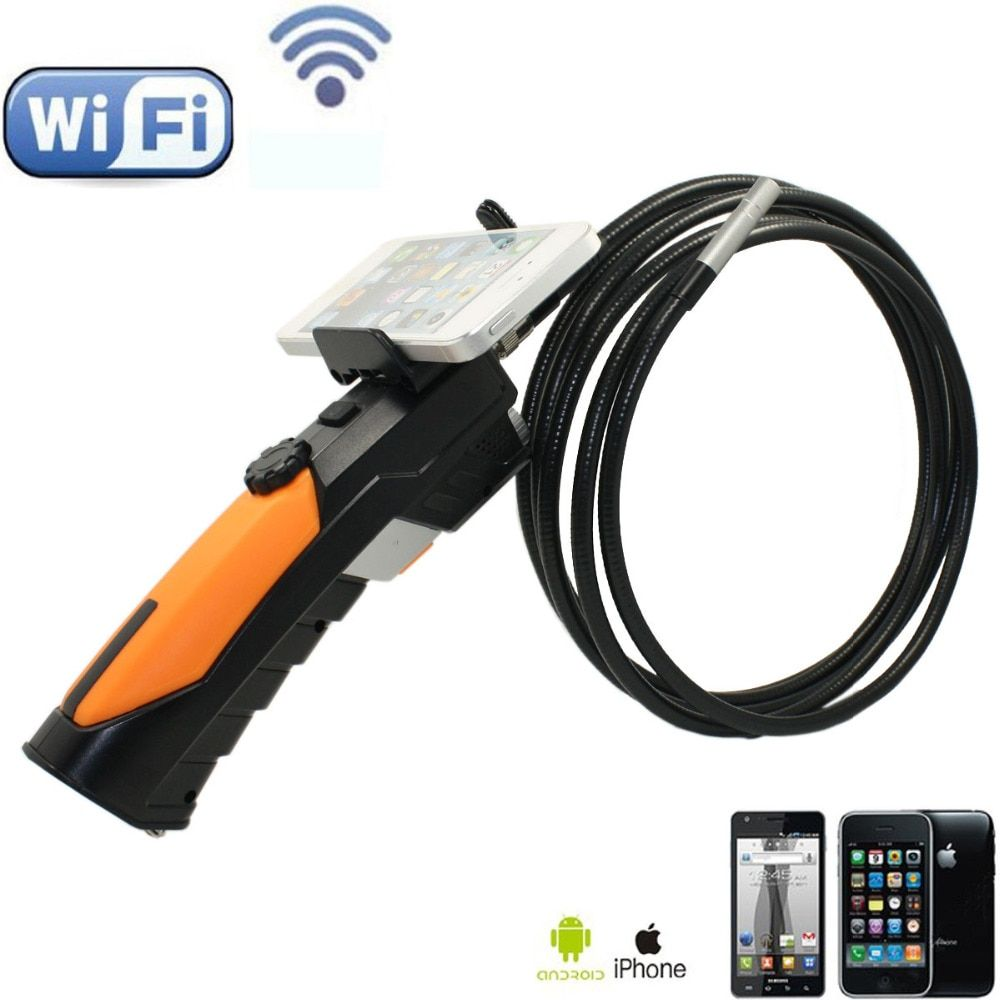 WIFI Endoscope Video Inspection Camera 8.5mm Borescope 6 LED HD 720P 3M Cable IP67