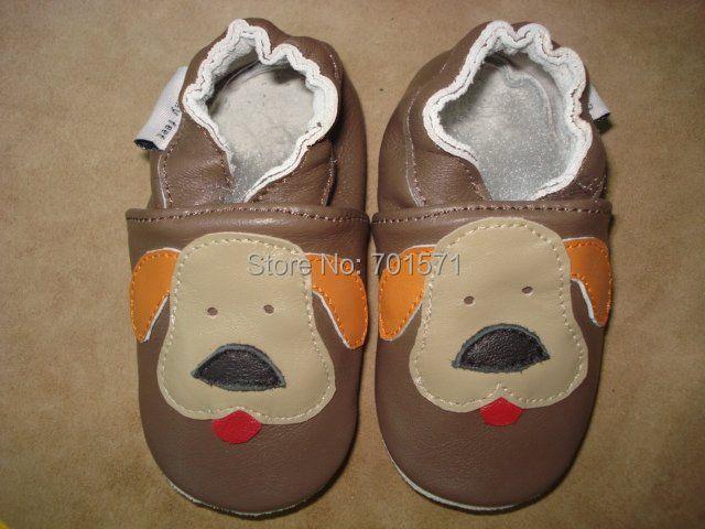 Garantizado 100% suela blanda zapatos de bebé de Cuero Genuino