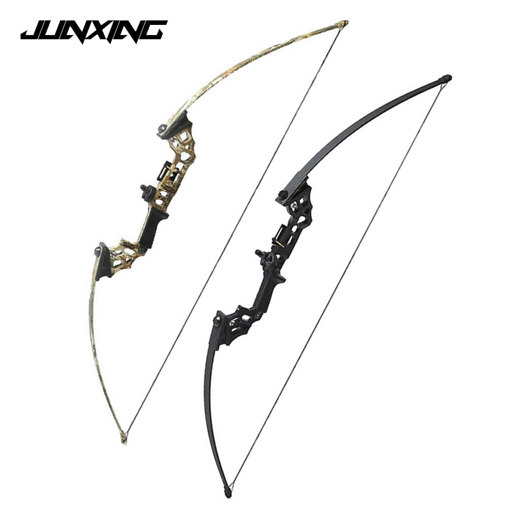 40 Lbs Straight Pull Bow Black/Camouflage Right Handed Archery Bow with a Compass for Outdoor Hunting Shooting