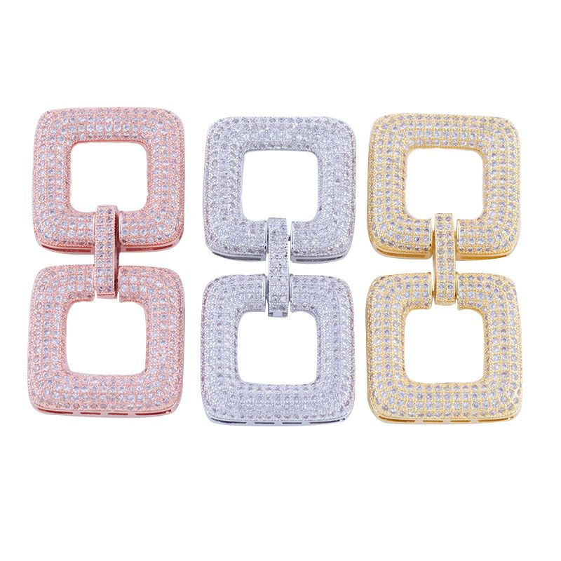 Jewelry Making Supplies Luxury Zirconia Copper DIY Rows Pearl Bracelets Necklaces Clasp Jewellery Spacers accessories findings