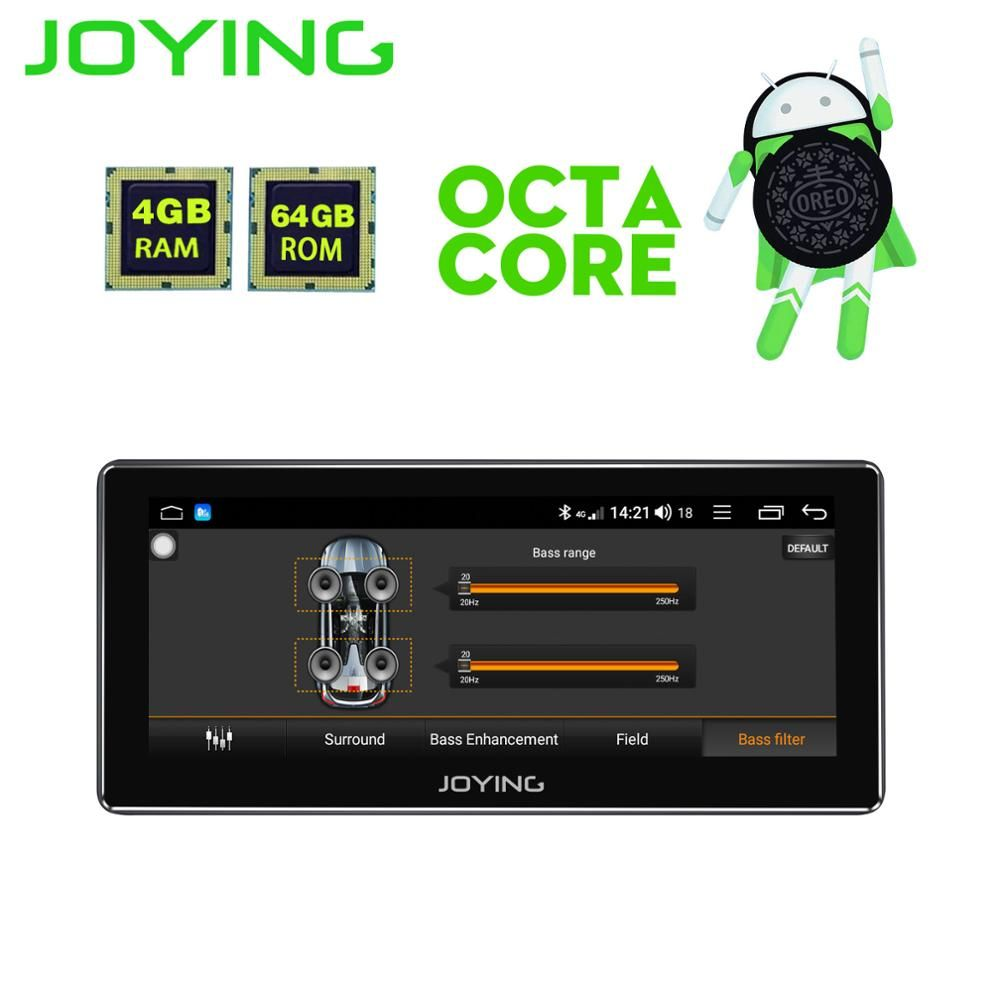 JOYING neueste 8 core Android 8.1 auto head unit autoradio unterstützung carplay GPS 1DIN Multimedia-Player HD 8,8 ''Radio band recorder